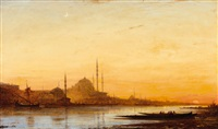 an evening view of istanbul and the bosporus by félix ziem