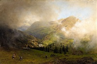 view of rigi by oswald achenbach