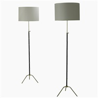 pr. of floor lamps by arlus