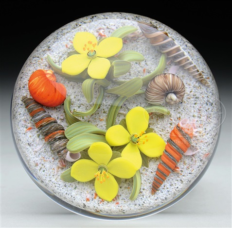 Flowers with seashells paperweight by gordon smith on artnet flowers with seashells paperweight by gordon smith mightylinksfo