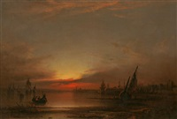 southampton water by samuel bough