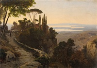 italian landscape by oswald achenbach