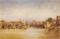 ponte roto in rome by ettore roesler franz