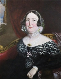 portrait of mr anderson (+ portrait of mrs anderson; pair) by george clint