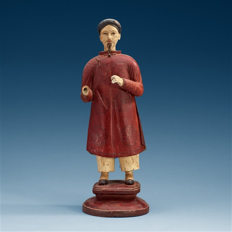 export figure of a china man by anonymous chinese qing dynasty