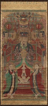 enthroned deity with attendants by anonymous-korean (19)