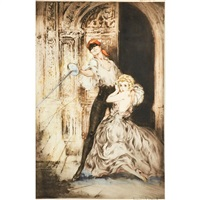 don juan and casanova (2 works) by louis icart