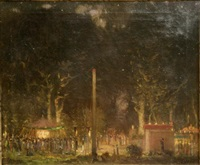 hampstead fair, night by louis augustus sargent