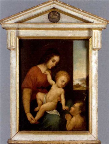 madonna and child with john the baptist by giuliano bugiardini