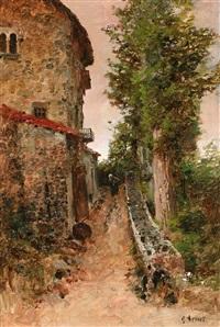 paisaje con camino by josé armet portanel