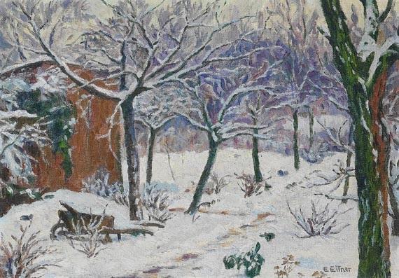 Garten Im Winter By Ernst Wilhelm Heinrich E Eitner On Artnet