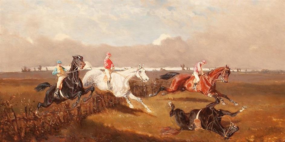 carrera de caballos y batalla pair by alexander ritter von bensa