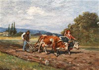 ploughing the field. a scene from russia by theodor breitwieser