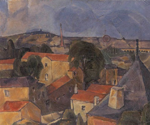 udsigt over paris by georg jacobsen