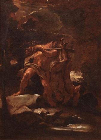 hércules arrastrando a los cércopes by luca giordano