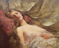 liegender damenakt by samuel melton fisher