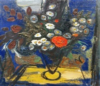 still life with flowers by charles eyck