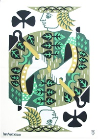 jack of clubs wall hanging by jean picart le doux