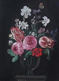 still life of flowers in a vase by frederick victor bailey