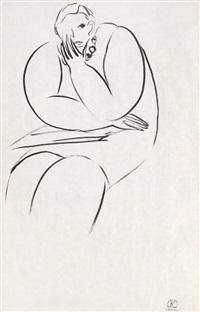 速写女人体 by sanyu