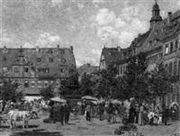 markttreiben in einer mitteldeutschen stadt by paul andorff