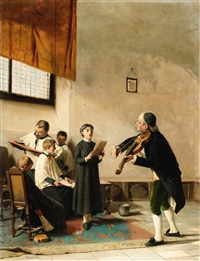 the music lesson by carlo ademollo
