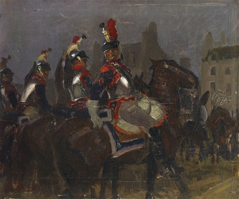 french cuirassiers by george hendrik breitner