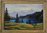 weißensee mit mit blick zum säuling by theodor von hoetzendorff