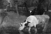 kühe an der tränke by carl appel
