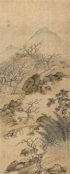 移梅图 by shen shichong