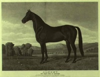almont, the great sire of trotters by (lithographers) haskell & allen