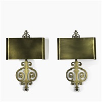 sconces (pair) by charles et fils