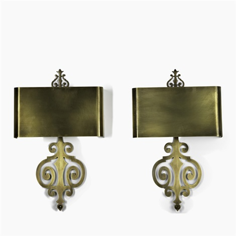 sconces pair by charles et fils