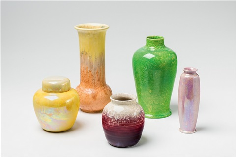 Five Vases Various Sizes By Ruskin Pottery On Artnet