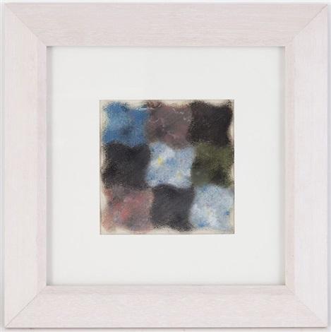 abstraction en bleu rose jaune vert et noir by augusto giacometti
