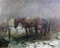 war horses resting on the western front by george denholm armour