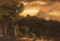 paisaje con un castillo by pieter mulier the younger