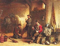 musketiere im stall by lambertus lingeman