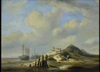 dünenlandschaft mit fischern by l. meyer