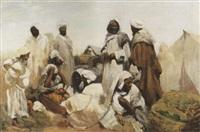 arabische marktszene by gabriel fontaine