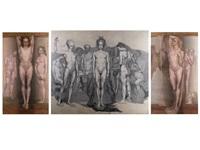 prometheus (triptych) by emile fabry