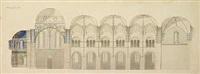 arkitekturtegning af ribe domkirke by carl petersen