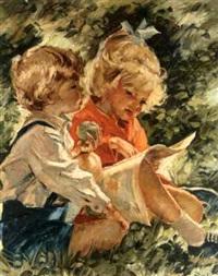 big sister reading by charles roka