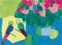 鹦鹉和花 by walasse ting
