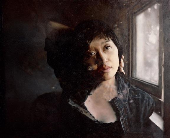 窗前女子之四 girl by the window by fan mingzheng