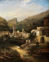 stadtansicht auf capri by robert alott