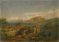 südliche landschaft by eduard wilhelm pose