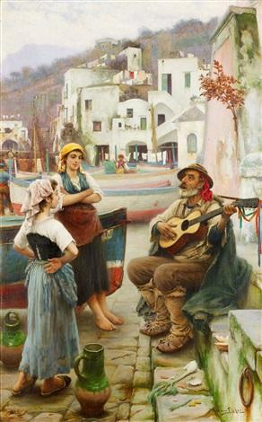 spelemannen och fiskarflickorna motiv från capri by horace fisher