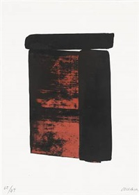 sérigraphie no. 12 by pierre soulages