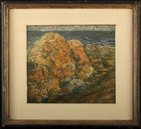 coastal rocks by charles salis kaelin